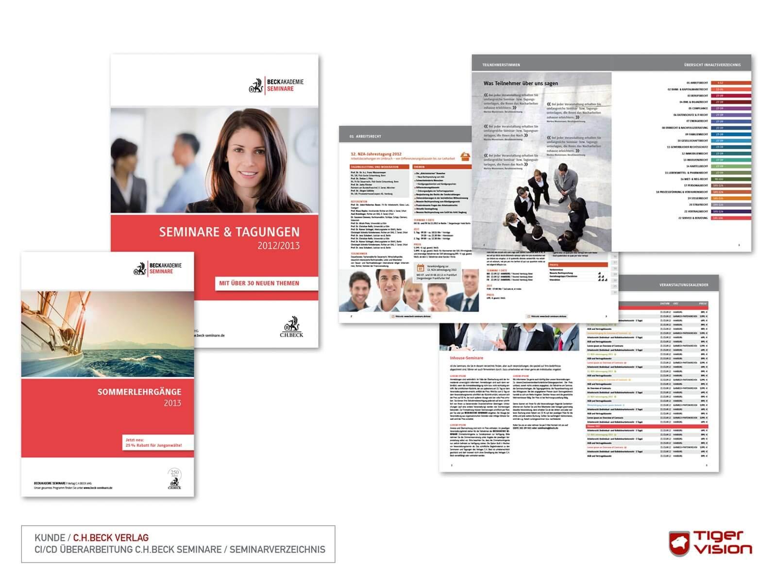 Design Relaunch Beck Seminare